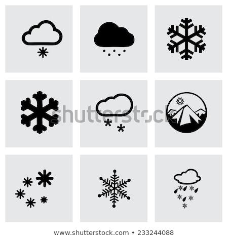 вектора икона снега морковь шарф иллюстрация Сток-фото © zzve