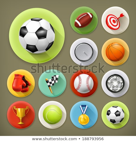 Athletic 3D Icon Set Stock photo © cteconsulting
