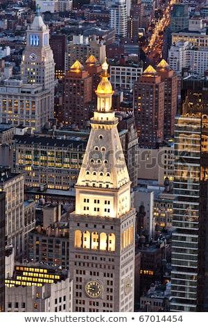 антенна панорамный мнение Manhattan Эмпайр-стейт-билдинг Top Сток-фото © meinzahn