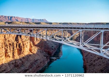 моста · мрамор · каньон · воды · пустыне - Сток-фото © vwalakte