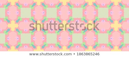 retro background with motley rainbow rhombuses Stock photo © marinini