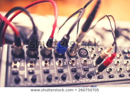 Digital video devices with  video and audio  sockets Stock photo © vavlt
