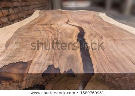 ストックフォト: 表 · 古い · 木製のテーブル · 葉 · 選択フォーカス