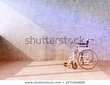 障害者 · 医師 · 座って · ホイール · 椅子 · 病院 - ストックフォト © elenarts