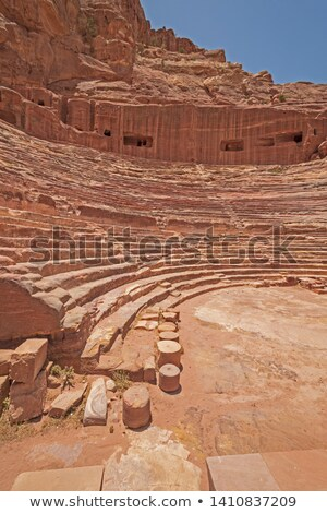 oblique view of a sandstone wall Stock photo © Zerbor