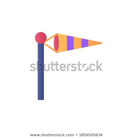 kule · ikon · rüzgâr · hızlandırmak · bayrak · vektör - stok fotoğraf © smoki