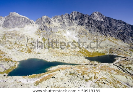 five spis tarns vysoke tatry high tatras slovakia stock photo © phbcz