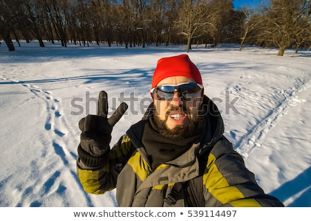 Man giving the peace sign Stock photo © photography33