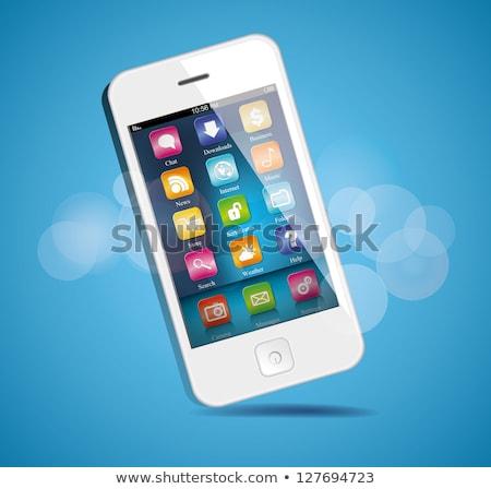 Foto stock: Vector · teléfono · celular · pda · GPS · negocios · ordenador