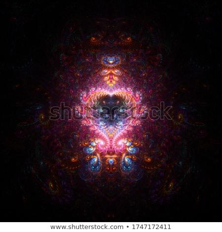赤 · 中心 · 青 · 渦 · 色 · 想像力 - ストックフォト © Livingwild
