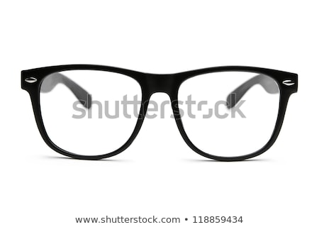 Fotografia czarny nerd widowisko ramki retro Zdjęcia stock © ryhor