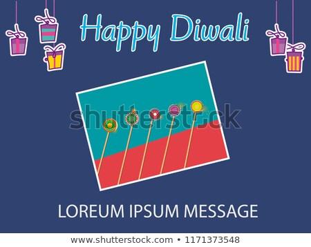Vector template diwali brochure festival design stock photo © bharat