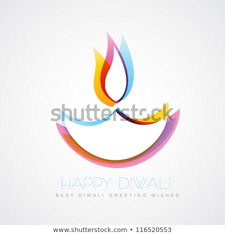 stylish colorful diwali diya creative background vector stock photo © bharat