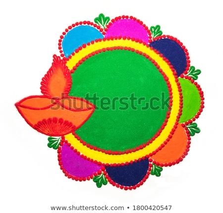 Diwali lâmpada belo arte colorido criador Foto stock © bharat