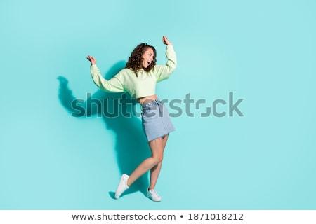 Stock fotó: Kép · fiatal · női · has · táncos · visel