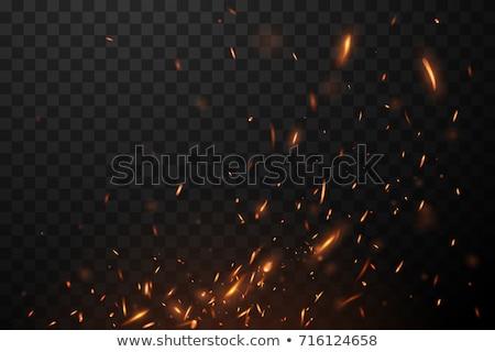 ストックフォト: 火災 · 熱 · 黒 · 石炭 · 木材 · 建物