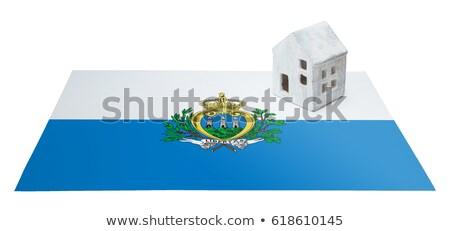 миниатюрный флаг Сан-Марино изолированный синий Сток-фото © bosphorus