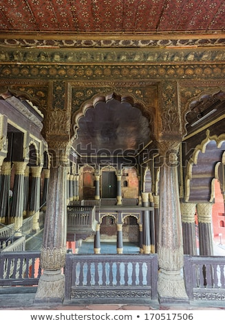 Reception hall at Tipu Sultan Palace in Bangalore. Stock photo © Klodien