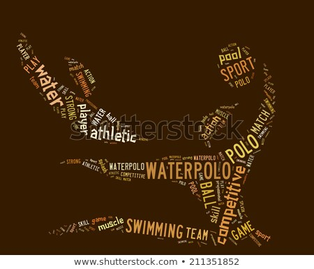 waterpolo word cloud with brown wordings Stock photo © seiksoon