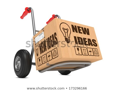New Solution - Cardboard Box on Hand Truck. Stock photo © tashatuvango
