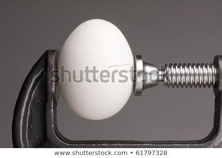 Pressão ovo estresse isolado preto dor Foto stock © elvinstar
