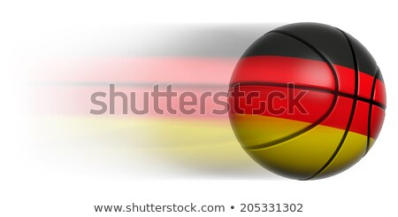 Basketball ball with German flag on white. Stock photo © Istanbul2009