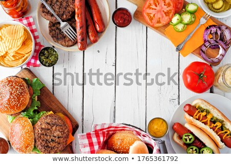 hamburger party Stock photo © M-studio