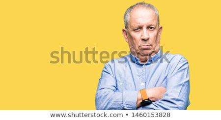 Közelkép portré idős érett üzletember vicces Stock fotó © ichiosea