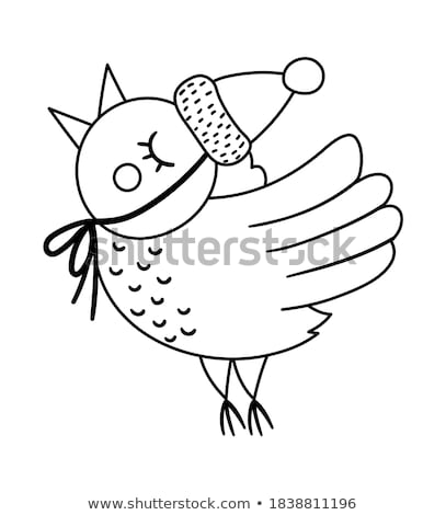 Festive Holiday Bird Stock photo © songbird