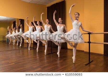 beautiful ballet dancer near the mirror stock photo © nejron