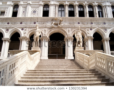 statue of neptune at the doges palace stock photo © hofmeester