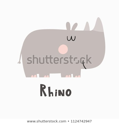 Smiling Black Rhino Stock photo © ottoduplessis
