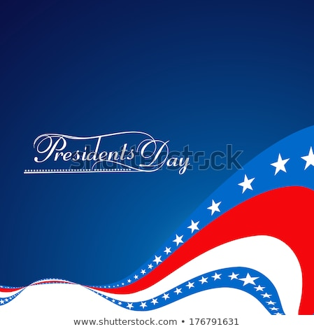 Foto stock: 4th Of July American Independence Day Stylish Beautiful Wave Vec