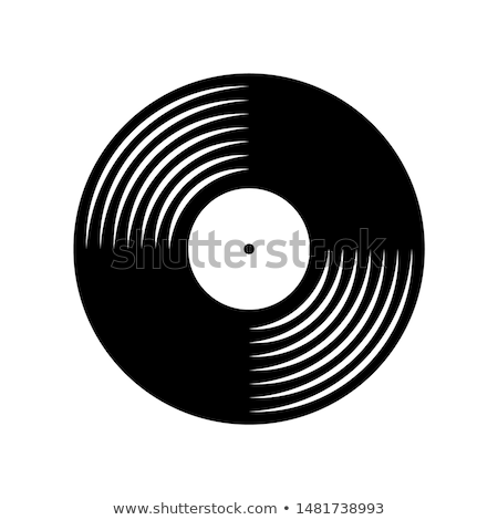 Retro bakelit lemez vektor absztrakt fekete Stock fotó © m_pavlov