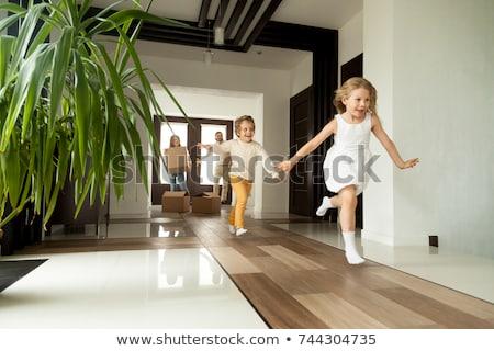 schoonheid · jonge · brunette · vrouw · luxe · home - stockfoto © nejron