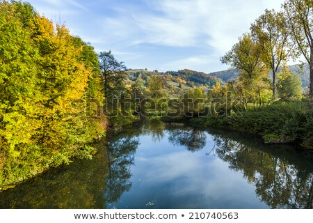 Stockfoto: Beroemd · romantische · vallei · rivier · boom · bomen