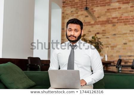 Decepcionado hombre empresario hombres traje blanco Foto stock © gemenacom