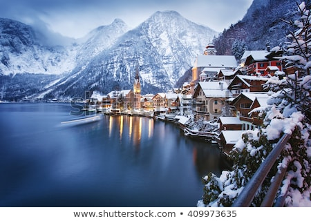 Hotels in winter Austrian Alps Stock photo © mahout
