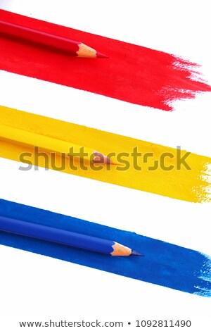 Renkli kalemler parlak renkler sayfa defter Stok fotoğraf © user_8545756