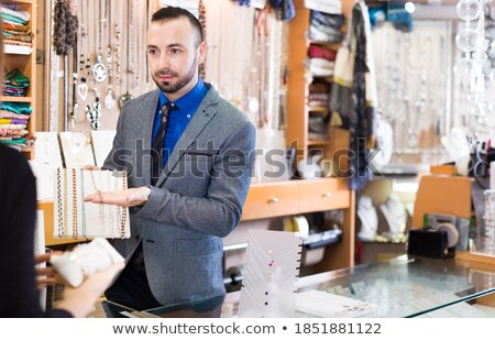 Adam gümüş kolye takım elbise işadamı erkekler Stok fotoğraf © feelphotoart