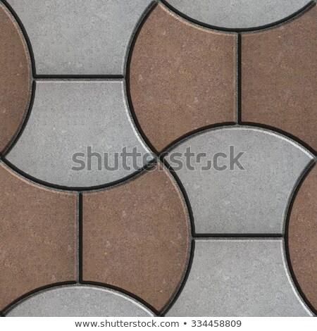 Grey Wavy Pavers. Seamless Texture. Stock photo © tashatuvango