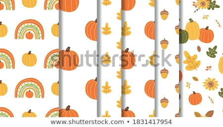 autumn pumpkins and leaves stock photo © beholdereye