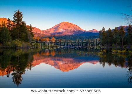 Lassen Peak National Volcanic Park Manzanita Lake Sunset Stock photo © cboswell