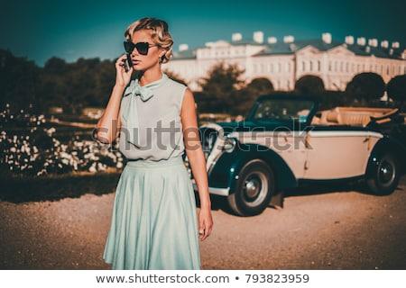 Retro Lady phoning Stock photo © Vg