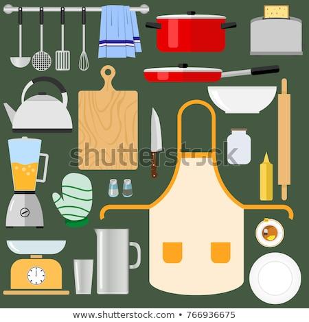 tafelgerei · geïsoleerd · witte · mok · schotel · porselein - stockfoto © mr_vector