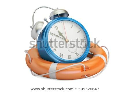Beyaz kurtarmak zaman iş saat hızlandırmak Stok fotoğraf © tashatuvango