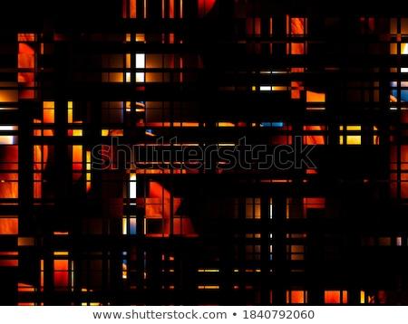 красочный квадратный черный фон окна Сток-фото © latent