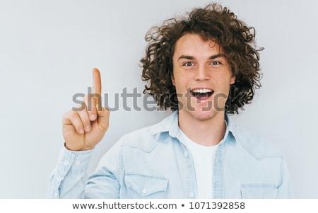 Bene idea felice imprenditore bianco uomo Foto d'archivio © stockyimages