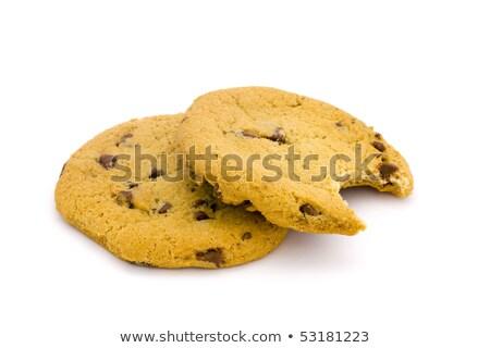 два шоколадом чипа Cookies укусить белый Сток-фото © lucielang