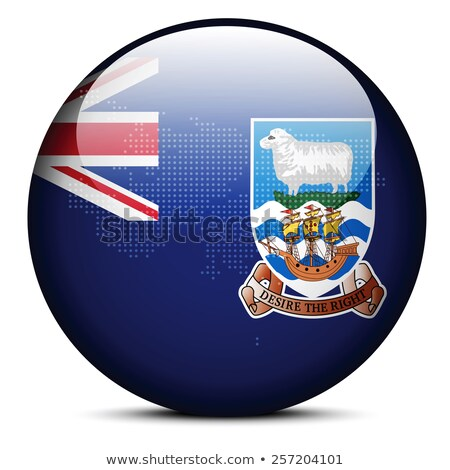 Map with Dot Pattern on flag button of Falkland Islands (Islas M Stock photo © Istanbul2009